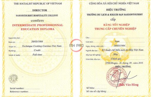 Làm bằng trung cấp tại MHPRO Việt Nam