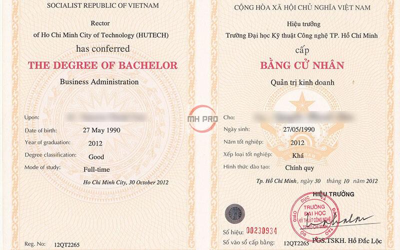 Làm bằng cao đẳng tại MHPRO Việt Nam