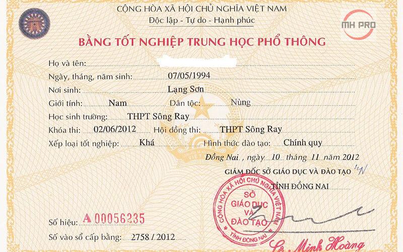 Làm bằng cấp 3 - thpt tại MHPRO Việt Nam