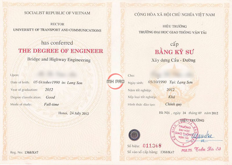 Dịch vụ làm bằng đại học MHPRO Việt Nam